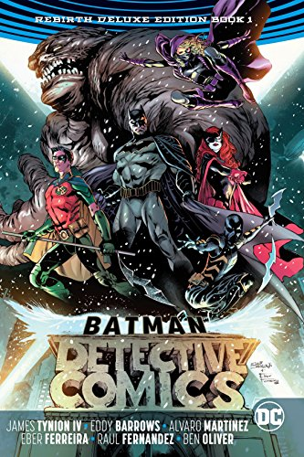 he first two volumes of the smash-hit series are now available in one deluxe hardcover in BATMAN- DETECTIVE COMICS- THE REBIRTH COLLECTION DELUXE BOOK 1! Batman and series co-star, and fan-favorite hero, Batwoman join forces to train new and familiar...