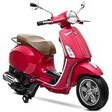 Playkin VESPA ROJA - Moto electrica niños oficial bateria 6V recargable triciclo +3 años juguetes infantiles triciclo correpa