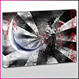 A017 Afro Samurai Japanese Writing Framed Ready To Hang Canvas Print, Anime, Pop Street Wall Art, Picture
