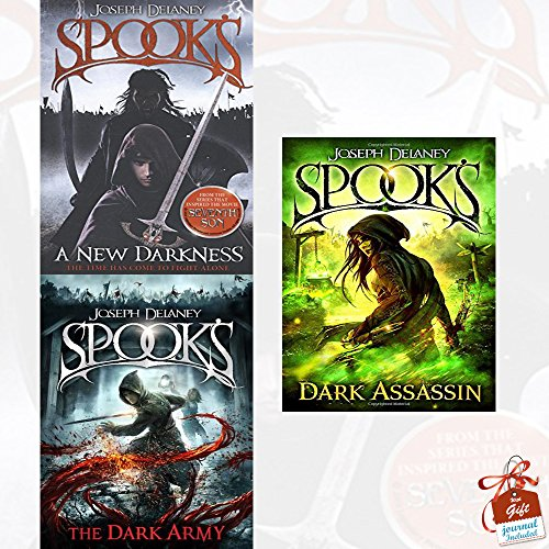 Spooks Joseph Delaney Starblade Chronicles Collection 3 Books Bundle With Gift Journal (A New Darkness, The Dark Army, Dark Assassin [Hardcover])