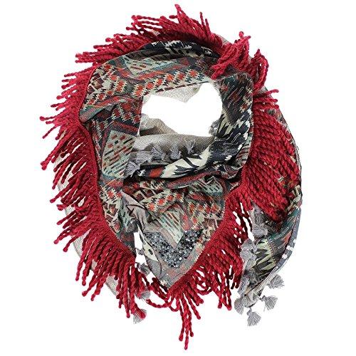 panno Yippie Hippie Cayenne Frasentuch nappe modello di seta fazzoletto panno di cotone sciarpa panno grigio