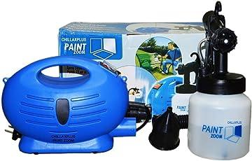 Paint Zoom CW-2005091009GM_Z1450 Plastic Electric Portable Spray Painting Machine Set (Blue, 7-Pieces)