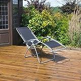 Kingfisher Gravity Garden Reclining Sun Chair Lounger - Kingfisher - amazon.co.uk