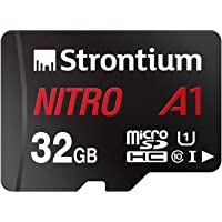 Strontium Nitro A1 32GB Micro SDHC Memory Card 100MB/s A1 UHS-I U1 Class 10 with High Speed Adapter for Smartphones…
