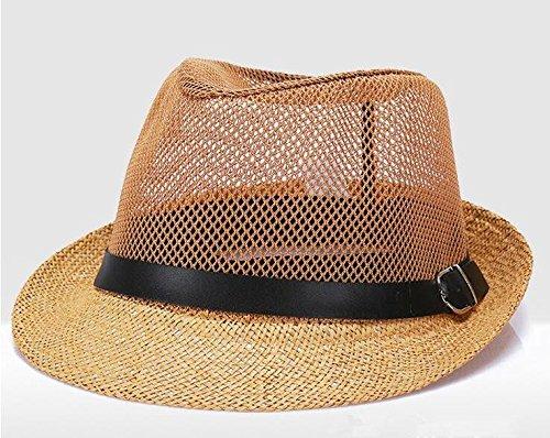 Strohhut-Hut des Hutes des Hutes der Männer von mittlerem des Sommerhütevatihut-Strohhutes Breathable mesh ()