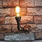 Retro Wandleuchte SYAODU Semi-embedded Beleuchtung E27 Industrial Style Metall Lampe Körper Öl Sand Bronze Behandlung AC110-240V Eisen Handwerk kreative Wand Dekoration