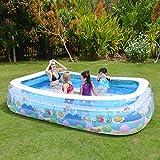 QINGTAOSHOP Aufblasbares Pool PVC rechteckiges Haushaltsschaufelndes pooltransparentes Blau 180 * 140 * 60CM (Color : Transparent, Size : 180*140*60CM)