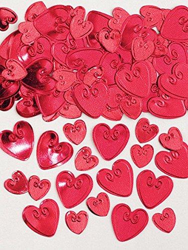 Amscan 990085614g Loving Herzen Ruby geprägt Metallic-Konfetti Preisvergleich