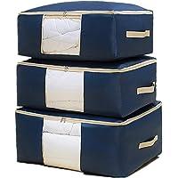 Sous Le Lit Sac de Rangement,Sac de Rangement Pliant Anti-Poussière 3 pièces Différentes Tailles Oxford Organizer Sac…