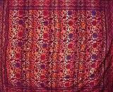 Rot Blau Sonnenblume gewebt 100% Baumwolle Gestreift Plaid