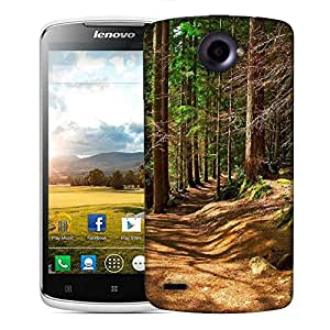 Snoogg Abstract Dense Forest Designer Protective Phone Back Case Cover For Lenovo S920