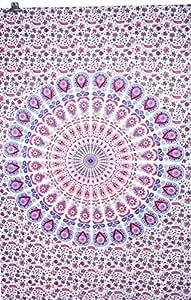 Handicrunch Mandala de paon indien Tapisserie, mur indienne suspendre, Hippie indienne tapisserie, suspendre bohème mur, pur Couvre Jetez Décor Art
