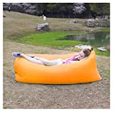 KCILINE GIANT Beanbag-Indoor & Outdoor Bean Bag Lazy Lounger Sleeping Bag Seat Chair-Lounger-Floor Cushion 230x70cm-Great for Garden,100% Water Resistant (Orange)