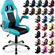 """RACEMASTER® """"GT Series"""" - Silla de escritorio/Gaming silla de despacho - Mecanismo de inclinación y elevación Homolación SGS - Disponible en 20 colores silla de oficina turquesa/negro/blanco"""