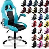 RACEMASTER® Office Chair Racing Look 'GT Racer', Colour black/grey/white, Collapsible Armrests, XL Five-Star Base, Gas Lift, Tested