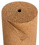 Sughero isolante per laminato e parquet, adatto per riscaldamento a pavimento, in sughero per laminato, sughero naturale portoghese - 10 x 1 m - spessore 4 mm