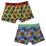 DC (Pack of 2) Wenig Jungs Comics (Superman) & Marvel Comics (Hulk) Boxer Shorts Multicolor 2-3