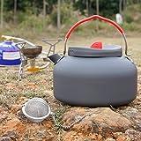 OUTAD outdoor tragbar 1.4L Wandern Camping Wasserkocher Teekanne Kaffeekanne -