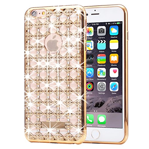 Iphone 6s 6 cassa del diamante, krygershield® - super back cover agata di lusso leggero magro - oro