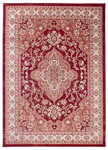 Kashan Roten Teppich (Carpeto Orientteppich Teppich Rot 60 x 100 cm Medaillon Muster Ayla Kollektion)