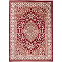 carpeto rugs tapis salon rouge 140 x 200 cm orientalayla collection - Tapis Oriental Rouge