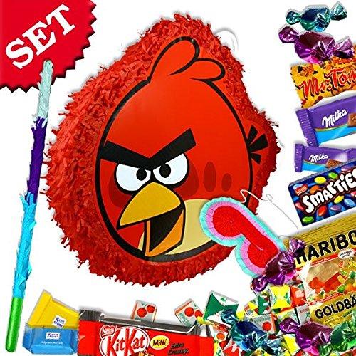 ls Red Bird im Set +Süßigkeiten +Zubehör f.Geburtstag Kinder (Angry Birds-pinata)