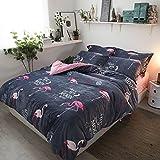 Cunguang Ins Nordic frische kleine Winter Weihnachten Bett vier Stücke aus Samt upgrade Milch samt Bettzeug, einer Einbauküche (Matratze), so ist der Kran, 1,5 m (5 Fuß) Bett
