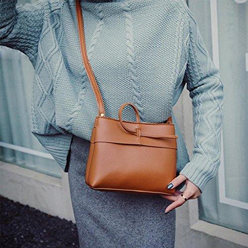 2017 Kangrunmy Donne Messenger Borse Mini Bag Shell di modo di figura Borse a tracolla Borse donna Marrone