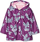 Hatley Girl's Printed Raincoat, Purple (Butterflies And Buds), 4 Years