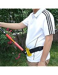 GGG Ajustable de pie hasta la cintura de pesca gimbal lucha contra la correa rod pole titular gran juego color verde
