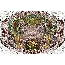 Pintura fractal sobre lienzo 91 x 60 cm.