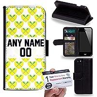 Case88 [Apple iPhone 5 / 5s] Custodia in PU Pelle, Supporto Stand e Porta Carte Integrati Portafoglio Flip Cover - Personalizzata Sports Design Girls Lacrosse DSE0197