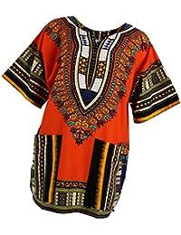 IPOTCH Vestidos Africanos Clásicos para Mujeres Hombres - Naranja