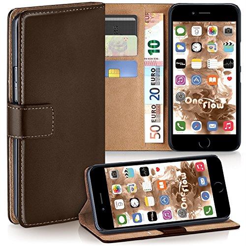 Cover OneFlow per iPhone 7 Plus Custodia con scomparti documenti | Flip Case Astuccio Cover per cellulare apribile | Custodia cellulare Cover rotettiva Accessori Cellulare protezione Paraurti Deep-Bla OXIDE-BROWN