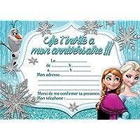 Amazon la reine des neiges invitations dcorations et 10 cartes invitation anniversaire la reine des neiges frozen in french stopboris Gallery