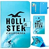 Samsung Galaxy Tab E 9.6 Case,T560 Case,Gift_Source Brand [Hollister] Premium Leather Case Stand Flip Wallet Case Cover Built-in Card Slots for Samsung Galaxy Tab E 9.6-Inch SM-T560/SM-T561
