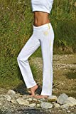 Yoga Hose lang Weiss von The Spirit of OM XS