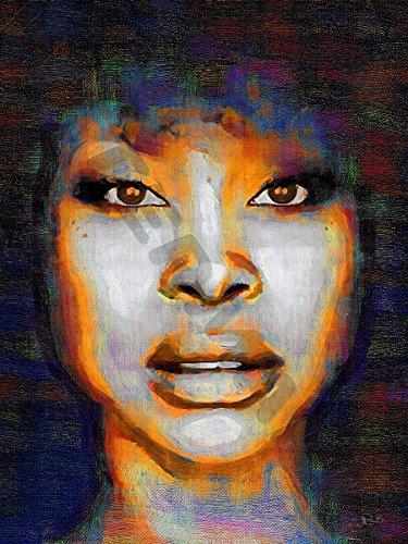 Posters-Galore Erykah Badu Soul Funk R&B Art Print Poster (Erykah Badu Poster)