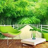 Murale di bambù verde della parete della foresta della foresta del giardino del sofà del giardino della carta da parati della carta da parat Carta Da Parati moderna 3D Fotomurali spiaggia-250cm×170cm