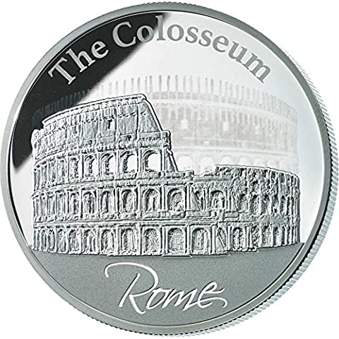 COLOSSEUM Hologram Collection Rome Silver Coin 2$ Niue 2015 Moneda