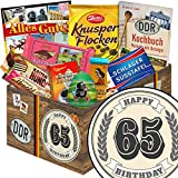Geschenk zum 65.   Schokolade Set   Geschenk Korb   Schokoladenset   Geschenke 65. Geburtstag Mann