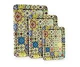 #9: Buono Casa 100% Melamine Tiles Tray Set of 3pcs