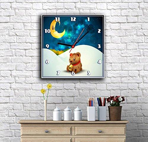 KIDS CUTE WALL CANVAS CLOCK 16 Inch Animated Cartoon Clock Kids ...