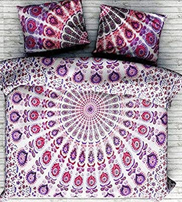 Handicraftofpinkcity Double Size Indian Mandala Duvet Cover Throw Reversible Cotton Doona Cover Handmade Bedding Quilt Cover Set With 2 Pc Pillow Cover