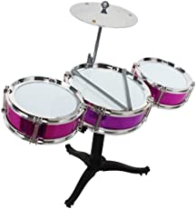 Charlies Toy Factory Jazz Drum Set, 14 Pieces (pink)