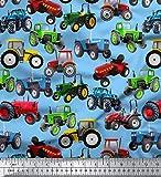 Soimoi Sewing Cotton Voile Gewebe Material Traktor Druck 58