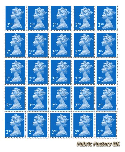 25 x 2nd Class Standard Stamps Royal Mail Post Office