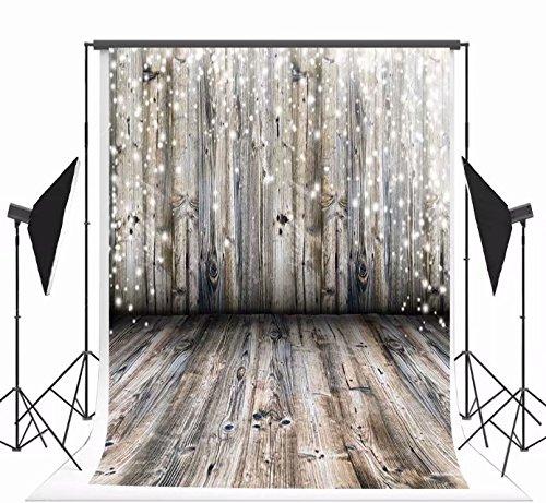 Kate Microfiber Hellgraue Holz Wand Fotografie Hintergrund Grau Holzboden Foto Hintergründe für Weihnachten 220x150cm