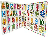 #7: Akhand Set of 2 Wooden ABC Alphabets and 123 Numbers Picture Tray Puzzle Toy