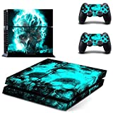 Elton Skull Theme 3M Skin Cover for PS4 Console and Controllers (Blue) Amazon deals